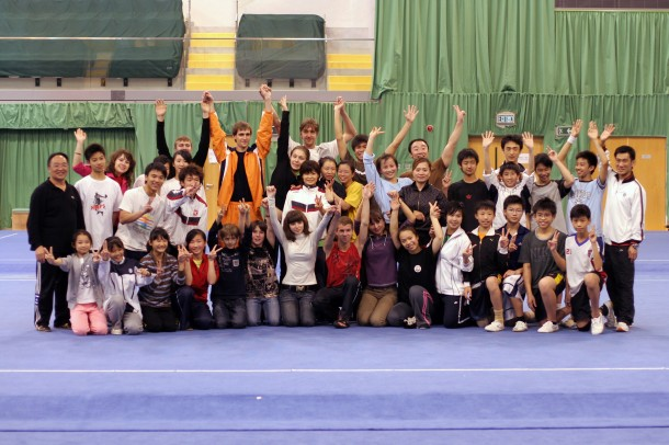 Фото со сборной командой Гонконга по ушу